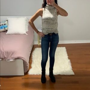 Sleeveless Kendal and Kylie high neck sweater